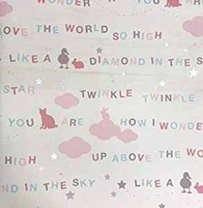Rosetta wallpaper roll for home/office (10m x 0.5m)- little stars