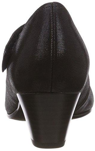 Delle Blu Chiuso nightblue Donne Pompe strass 36 punta Schwarz Comfort deko Gabor Basic qBOFII
