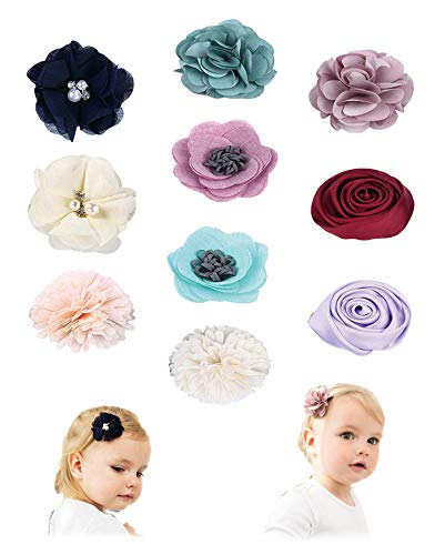 Fancy Clouds Girls Hair Bows flowers clips Barrettes,Lined Alligator,Hair Accessories for Baby Toddler Kids Teens (flower1)