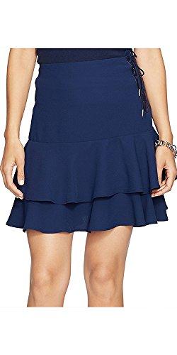 Lauren Ralph Lauren Womens Layered Lace Up Flounce Skirt ...