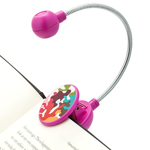 WITHit French Bull Book Light - Pink Glamo - LED Reading Light with Clip for Books and eBooks