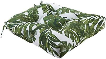 Madison Park Printed Palm 3M Scotchgard Outdoor Seat Cushion Green 20x20x3