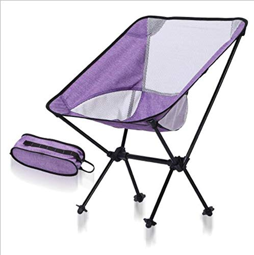 - Outdoor Folding Chair, Portable Foldable Aluminum Camping Travel Chair Fishing Hiking Stool Backpacking Seat Stool (Hold up to 150 kg)
