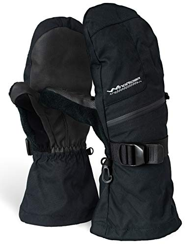 - Rugged Waterproof Winter Mittens | Extra Long Gauntlets | Snowboard, Ski, Ice Fishing, Mittens | Medium Weight (XL)