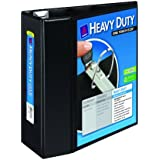 Avery Heavy-Duty Reference View Binder with 5 Inch EZD Rings, Black (79606)