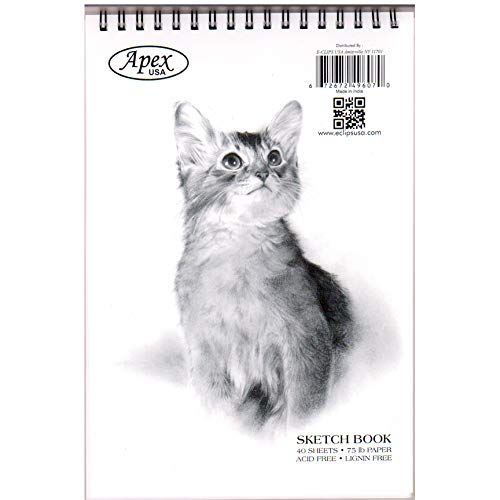Sketch Book, Poly Cover, 6'' x 9'', 40 Sheets, in Display Case Pack of 48, Ideal for Bulk Buyers