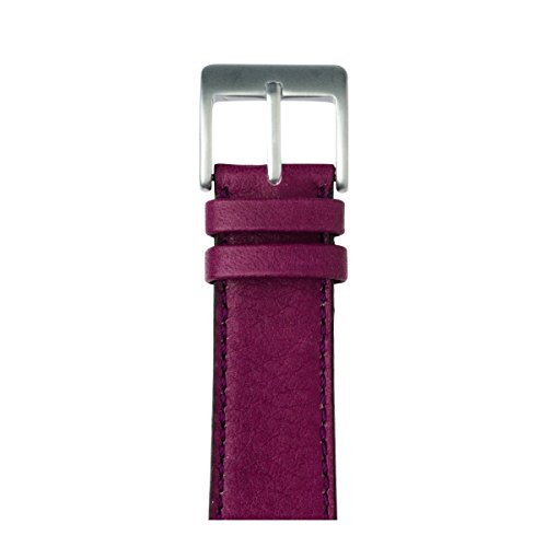 Roobaya | Premium Sauvage Leather Apple Watch Band in Purple | Includes Adapters matching the Color of the Apple Watch, Case Color:Silver Aluminum, Size:42 mm by Roobaya
