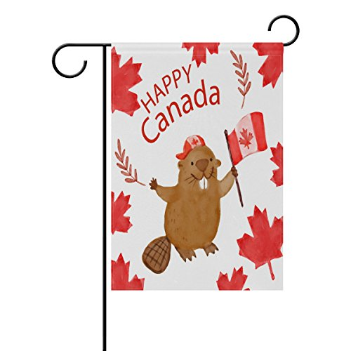 THENAHOME Decorative Flags for Outside Double Sided Welcome Garden Flag with Novelty Happy Canada Day for Yard Flags Outdoor Flags -