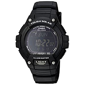 "41%2BVtzctJ0L. SS300  - Casio Men's W-S220-1BVCF ""Tough Solar"" Running Watch with Black Resin Band"