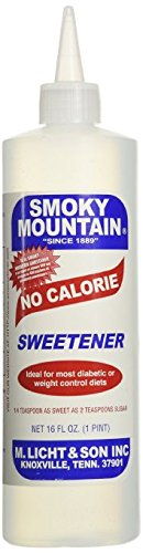Ideal No Calorie Sweetener (Smoky Mountain No Calorie Sweetener 16 Oz. Pack of 3)