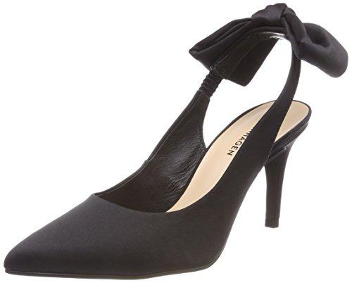 Shoe Biz Damen Heloise Slingback Pumps Schwarz (Satin Black)