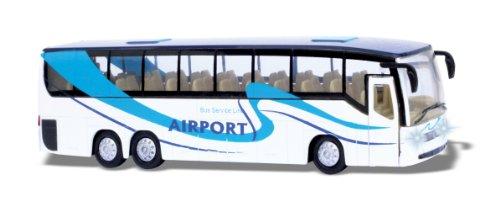 Reisebus mit Licht und Sound Bus blau weiß Airport