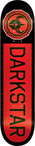 Darkstar 10012383 Timeworks Skateboard Deck, Black/Red, 8.25