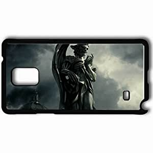 Personalized Samsung Note 4 Cell phone Case/Cover Skin Angel and demon movies Black
