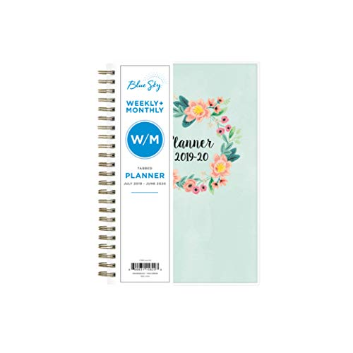 - Blue Sky 2019-2020 Academic Year Weekly & Monthly Planner, Flexible Cover, Twin-Wire Binding, 5