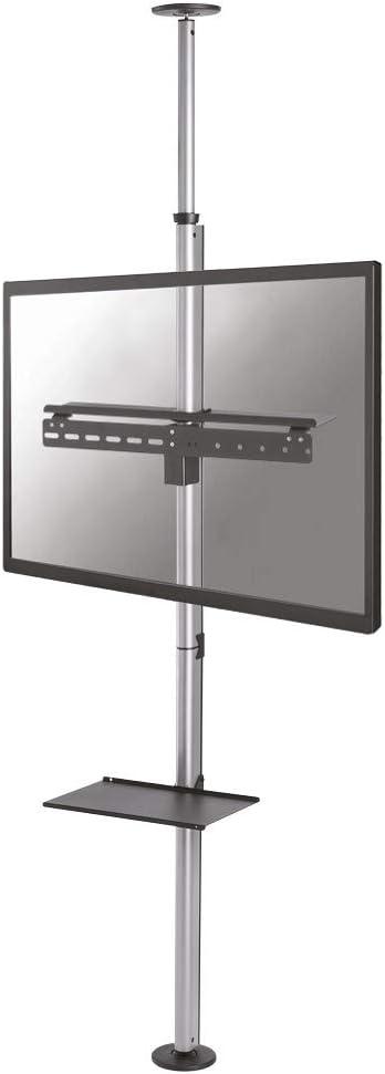Newstar Support du Sol au Plafond écrans Plat - Supports plafonds d'écrans Plats (30 kg, 94 cm (37'), 177,8 cm (70'), 200 x 200 mm, 600 x 400 mm, Argent)