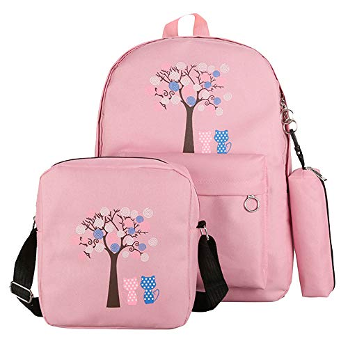 3PCS School Backpack,Allywit School Bookbag Lady Travel Backpack 14Inch Laptop Bag by Allywit - bag