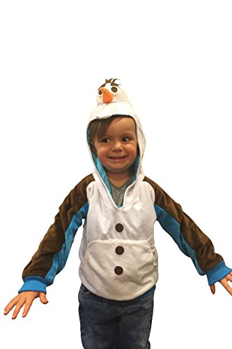 [Halloween Costumes Kids Olaf Snowman Costume Hoodie Sweatshirt Frozen Costume (4-6yr)] (Sven Costume For Boys)