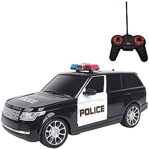 Carrinho Controle Remoto Policia SUV 7 Funções, Art Brink, Multicor 25.5 cm
