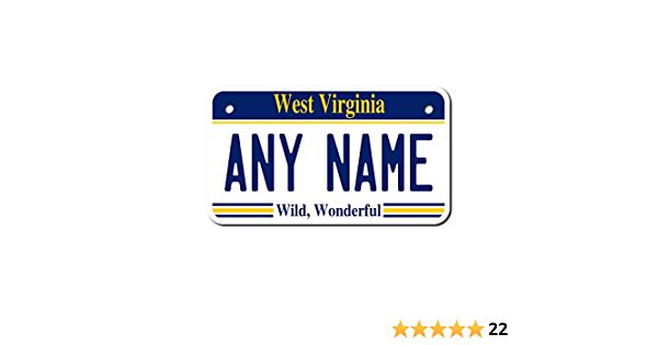 West Virginia license plate box West Virginia Fathers Day gift West Virginia Graduation Gift