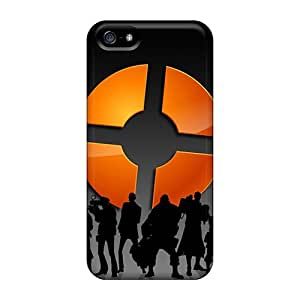 Apple Iphone 5/5s IxH14862pTlJ Customized Trendy Silhouette Team Fortress 2 Pattern Great Hard Cell-phone Case -CharlesPoirier