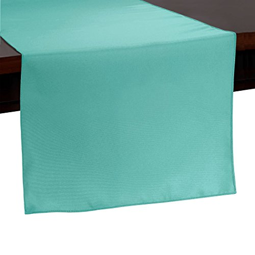 Ultimate Textile 14 x 54-Inch Polyester Table Runner Aqua Blue