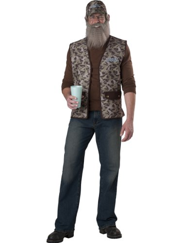 InCharacter Costumes Duck Dynasty Uncle Si Costume, Camouflage, One (Costume Beards For Sale)