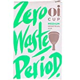 Oi Menstrual Cup - Medium - Up to 12 Hour Protection, Eco-Friendly and Recyclable Menstrual Cup Made with Hypoallergenic Medical Grade TPE for a Natural, Hassle-Free Alternative to Tampons and Pads