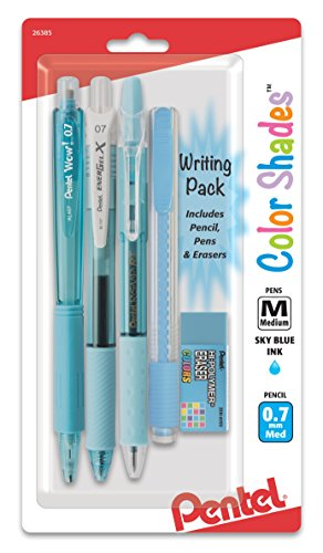 Pentel Color Shades Writing Pack - Pastel Sky Blue (BLBKALZBPS)