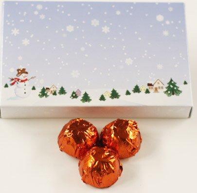 Scott's Cakes Dark Chocolate Orange Liqueur Italian Butter Cream Candies with Orange Foils in a 1 Pound Winter Wonderland Box
