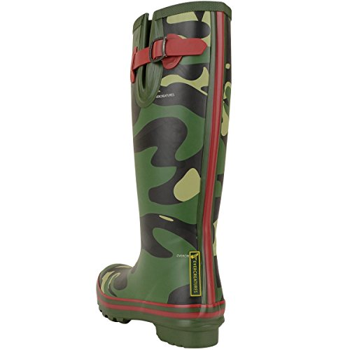 Evercreatures Frauen Gummistiefel Camo Wellies woodland - fällt normal aus Camouflage