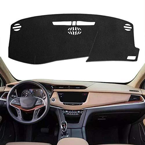 Autoxrun Black Non-Slip Dashboard Dash Protector Dash Mat Sun Cover Pad Fits 2016-2019 Cadillac XT5