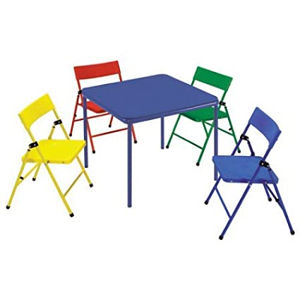 Brilliant Cosco Kids 5 Piece Folding Chair And Table Set Ocoug Best Dining Table And Chair Ideas Images Ocougorg