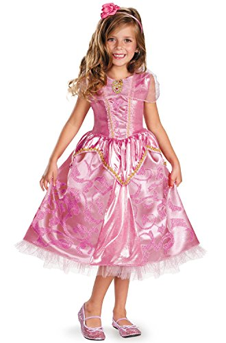 Disguise Disney's Sleeping Beauty Aurora Sparkle Deluxe Girls Costume, 4-6X (Toddler Fairy Tale Classics Costume)