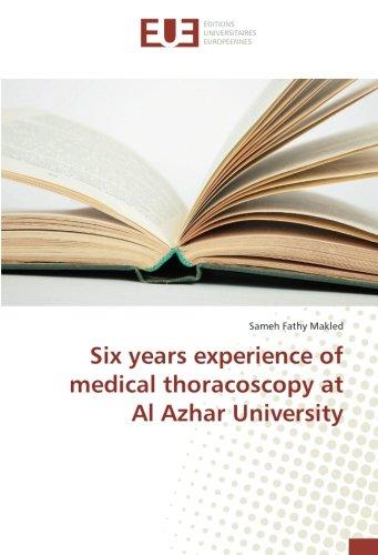 Read Online Six years experience of medical thoracoscopy at Al Azhar University pdf epub