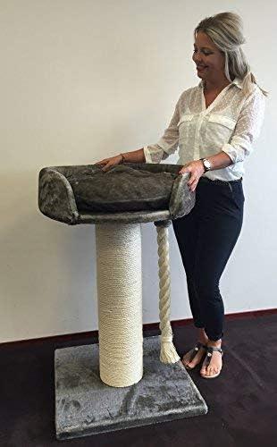 Rascador para gatos grandes Chartreux Gris Topo arbol xxl maine coon gato gigante muebles sofa casa escalador casita torre Árboles rascadores cama cueva repuesto medianos: Amazon.es: Productos para mascotas