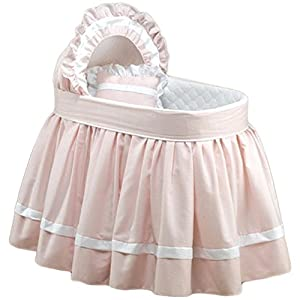 Babydoll Sweet Petite Bassinet Bedding Set, Pink