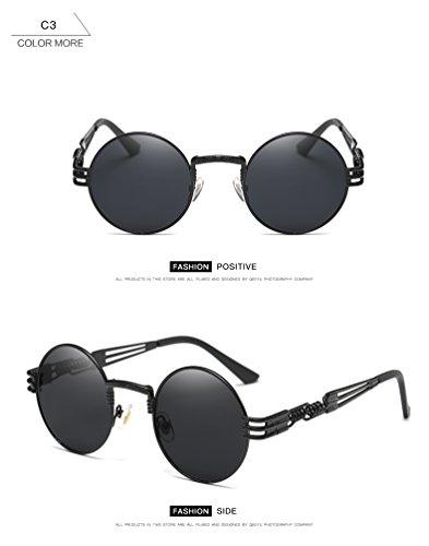 Dollger John Lennon Round Sunglasses Steampunk Metal Frame 5