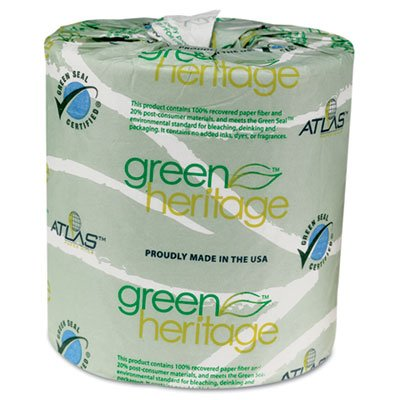 "Green Heritage 235 4.5"" Length, 3.5"" Width, 2-Ply Bathroom T"