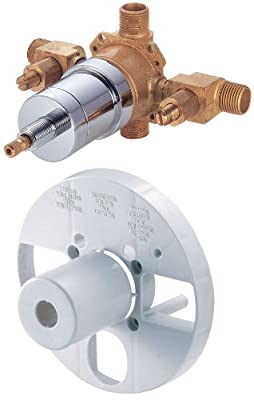 Danze D113000BT Single Control Pressure Balance Mixing Valve with Diverter and Screwdriver Stops