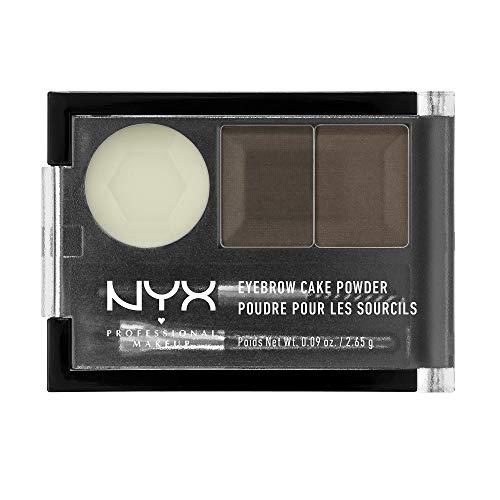 NYX Eyebrow Cake Powder, Dark Brown/Brown