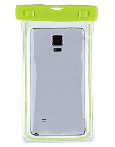 Jixin4you Waterproof 4-6'' Phone Case PVC Noctilucence Dry Pouch Bag Lime