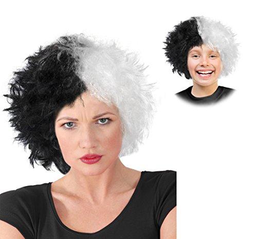 Cruella Deville Costume Wig Cruella De Vil Costume Wig Black and White (Cruella De Vil Kids Costumes)