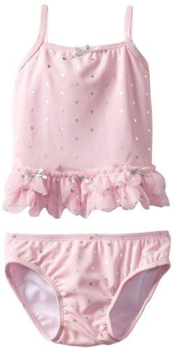 Kate Mack Baby Girls' Splash Swim 2 Piece, Pink, 24 Months - Nylon Kate Tankini Mack