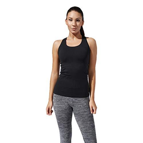 (Xterity 3.0 Strive Women's Seamless Tank Top/Yoga Shirt for Running & Workouts (Black, Medium))