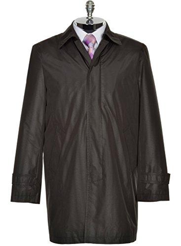 DKNY Donna Karan Mens Black Raincoat 44 Short 44S Water Resistant Overcoat