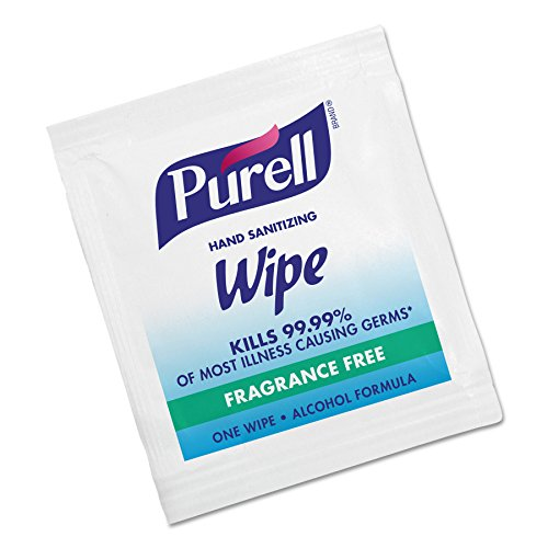 PURELL Hand Sanitizing Wipes Alcohol Formula, Fragrance Free, 1000 Individually Wrapped Hand Sanitizing Wipes Packets (Pack of 1000) - 9021-1M