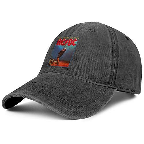 Men's,Women's Vintage Washed Distressed Dad-Hats Flat Brim Golf Twill Jean Cap