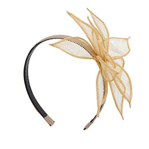 Poinsettia Headband For Girls And Teens Wedding Hair Band Gold
