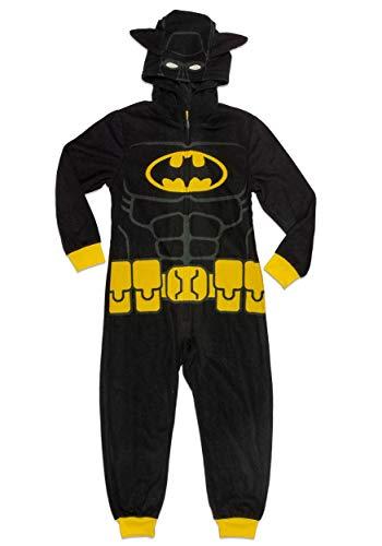 LEGO Batman Big Boys' Costume, Onesie Pajamas, All-in-One Set, Blk, 6/7 ()